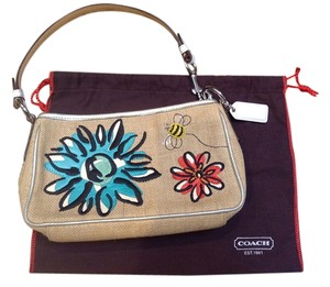 Coach Bumblebee Flower Burlap 8672 Hobo Bag