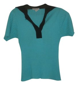 Barneys New York Top Turquoise, black