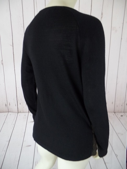 Alex Marie Small Wool Blend Cardigan Zip Front Long Sleeves Tiered Ruffles Chic Sheer Soft Lightweight Sweater Image 4