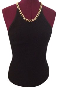 Michael Kors Knitted Casual Top Black and Gold
