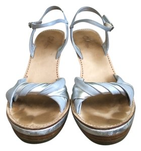 Cole Haan Sandals Light Blue & Silver Wedges