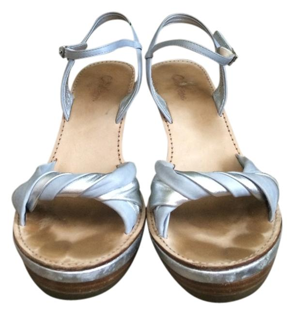 Cole Haan Light Blue & Silver Air Grier Wedges Size US 8 Regular (M, B) Cole Haan Light Blue & Silver Air Grier Wedges Size US 8 Regular (M, B) Image 1