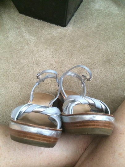 Cole Haan Sandals Light Blue & Silver Wedges Image 2