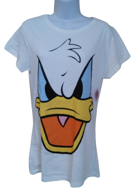 Preload https://item1.tradesy.com/images/disney-white-couture-donald-duck-angry-face-women-s-girl-s-junior-tee-shirt-size-16-xl-plus-0x-3925945-0-0.jpg?width=400&height=650