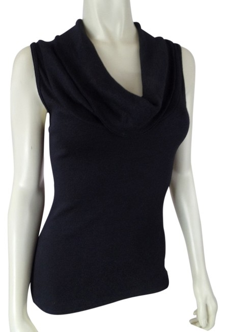Anthropologie Black Specked (M) Sleeveless Cowl Neck Sexy Pullover Cotton Nylon Stretch Knit Tank Top/Cami Size OS (one size) Anthropologie Black Specked (M) Sleeveless Cowl Neck Sexy Pullover Cotton Nylon Stretch Knit Tank Top/Cami Size OS (one size) Image 1