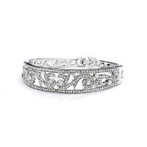 Mariell Silver Magnificet Crystal Bracelet For Prom Homecoming Or Bridesmaids 4052b Ring