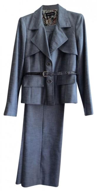 Preload https://img-static.tradesy.com/item/39267/isabel-and-nina-gray-belted-pant-suit-size-14-l-0-0-650-650.jpg