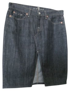 7 For All Mankind Skirt dark denim blue