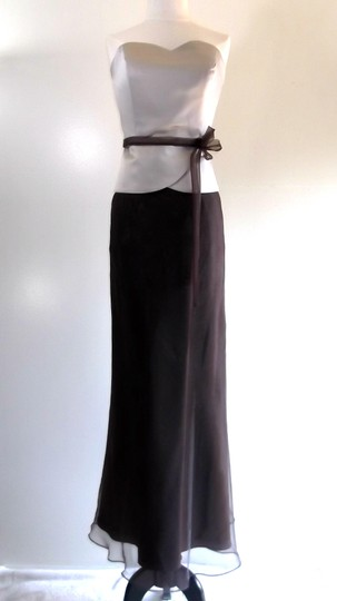 Preload https://item1.tradesy.com/images/alfred-angelo-chocolate-brown-champagne-satin-organza-style-formal-bridesmaidmob-dress-size-14-l-3926845-0-0.jpg?width=440&height=440