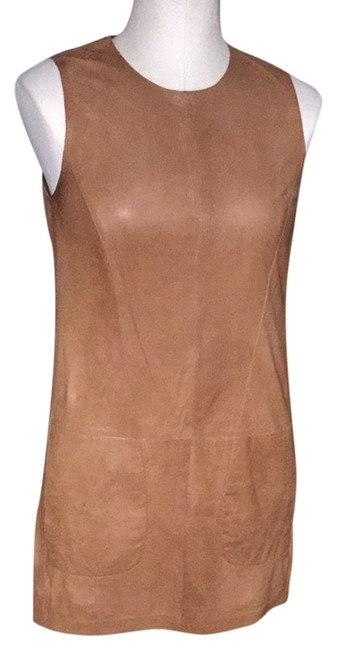 Preload https://img-static.tradesy.com/item/3926893/vince-camel-leather-short-casual-dress-size-8-m-0-0-650-650.jpg