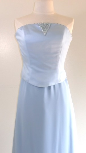 Alfred Angelo Cornflower Satin / Chiffon Style Formal Bridesmaid/Mob Dress Size 8 (M) Image 1