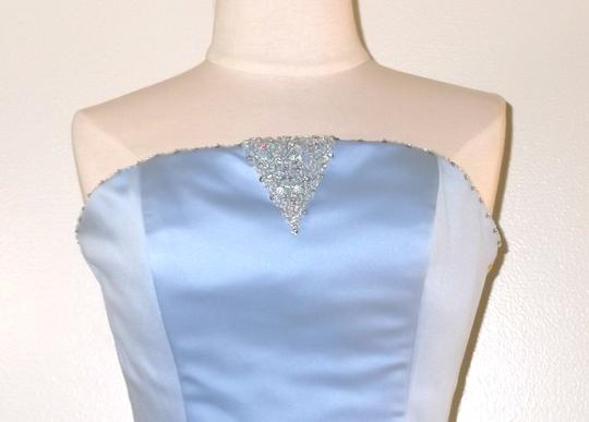 Alfred Angelo Cornflower Satin / Chiffon Style Formal Bridesmaid/Mob Dress Size 8 (M) Image 2