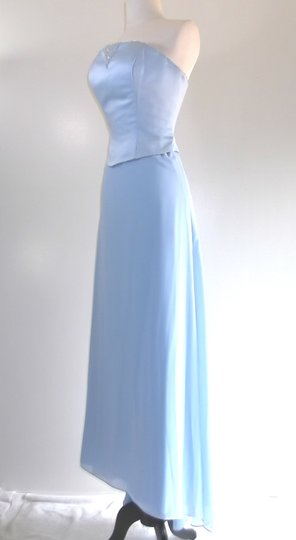 Alfred Angelo Cornflower Satin / Chiffon Style Formal Bridesmaid/Mob Dress Size 8 (M) Image 3