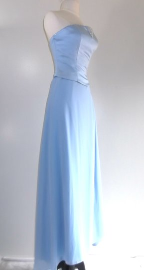 Alfred Angelo Cornflower Satin / Chiffon Style Formal Bridesmaid/Mob Dress Size 8 (M) Image 5