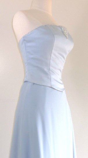 Alfred Angelo Cornflower Satin / Chiffon Style Formal Bridesmaid/Mob Dress Size 8 (M) Image 6