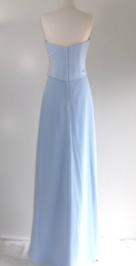 Alfred Angelo Cornflower Satin / Chiffon Style Formal Bridesmaid/Mob Dress Size 8 (M) Image 7