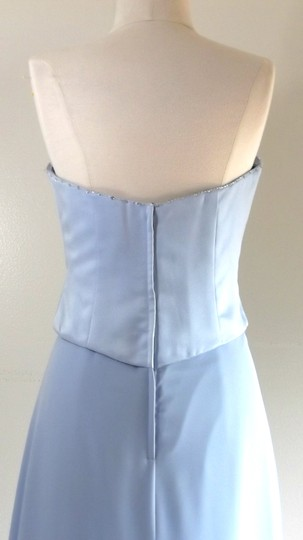 Alfred Angelo Cornflower Satin / Chiffon Style Formal Bridesmaid/Mob Dress Size 8 (M) Image 8