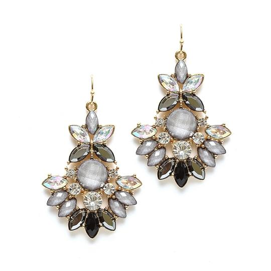 Mariell Pewter Multi Marquis Statement Earrings 4333e-pwt