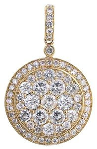 ABC Jewelry GENUINE 3 ct all diamond medallion pendant. All 14Kt yellow gold pendant