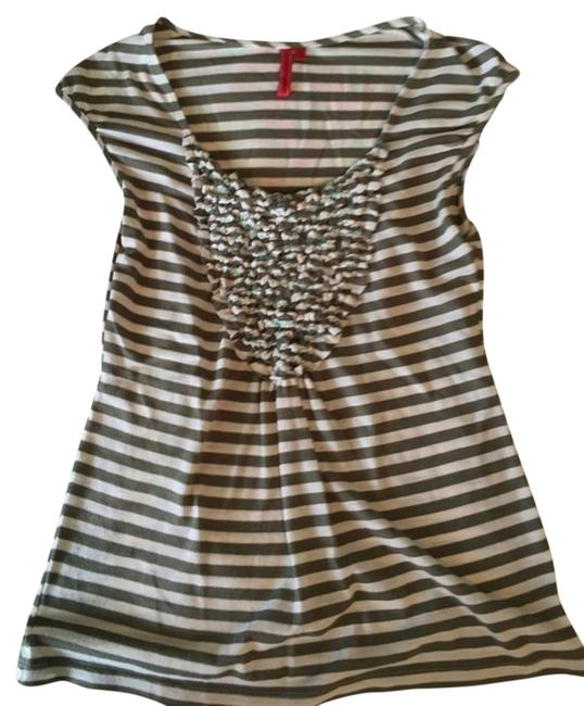 Anthropologie T Shirt Green And Cream