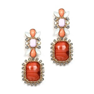 Mariell Chic Crystal Coral & Opaque Pastel Earring 4121e-cormu