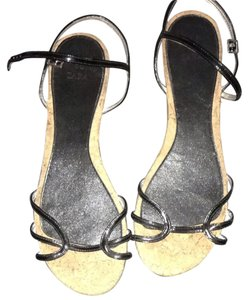 Zara Cork And Black Flats