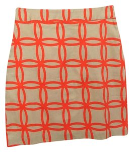 Dizzy Lizzie Skirt Orange Beige