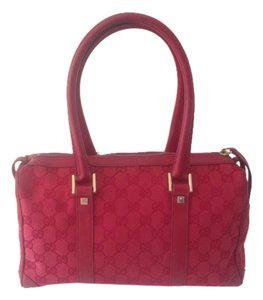 Gucci Gg Monogram Jacquard Leather Shoulder Bag