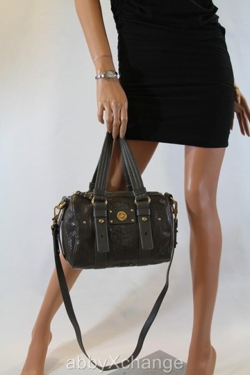 Marc by Marc Jacobs Totally Turnlock Lil Shifty Leather Gold Hardware Satchel in Black Patent