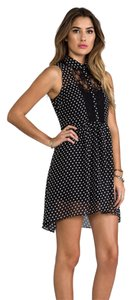 Jack by BB Dakota short dress Black with white polka dots Dot Chiffon on Tradesy
