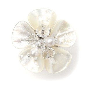 Mariell Exotic Freshwater Pearl Bridal Ring With Flower 3134r