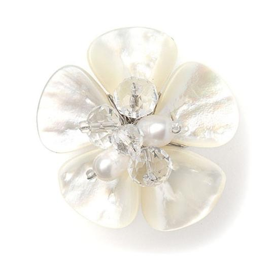 Mariell Pearl Exotic Freshwater with Flower 3134r Ring