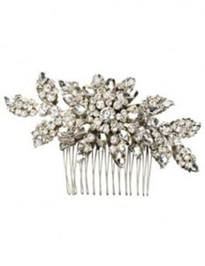 Erin Cole Bridal Couture Silver/Crystal New Lola Comb Hair Accessory
