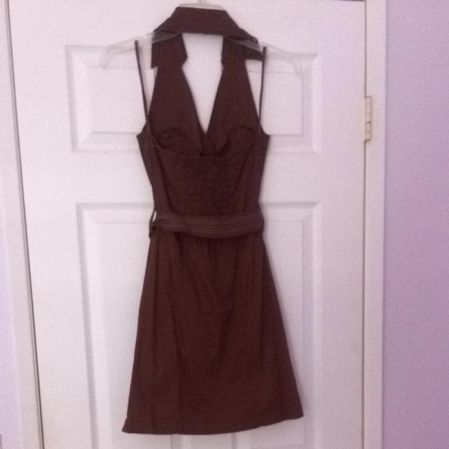Hot Kiss short dress Brown on Tradesy