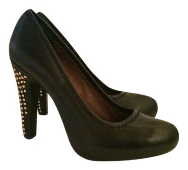 Item - Black Rocker Studded Heels Pumps Size US 8.5