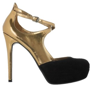 DKNY Donnakaren Black and metallic gold Pumps