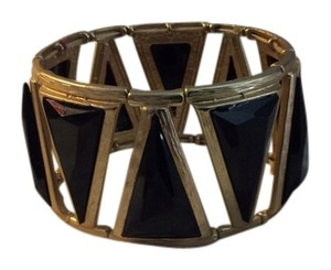 BLack Gold Geometric Bracelet