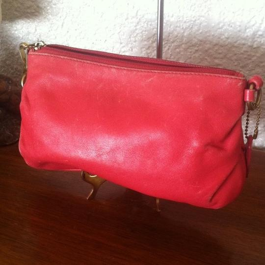 Coach Opt Art Pleated Leather Pink Coral White Brown Fuscia Bundle Wristlet in Multi Image 10