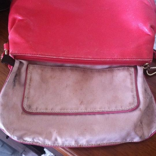 Coach Opt Art Pleated Leather Pink Coral White Brown Fuscia Bundle Wristlet in Multi Image 11