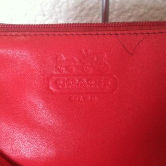 Coach Opt Art Pleated Leather Pink Coral White Brown Fuscia Bundle Wristlet in Multi