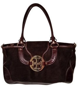 Tory Burch Satchel in Dark Brown and Plum