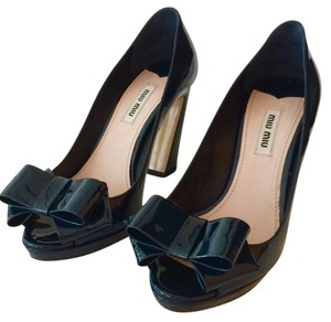 Miu Miu Navy Blue Pumps