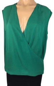 Tibi Top Grass, Green, Emerald