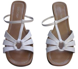 Cabin Creek Summer Slight Heel Spring Beach Pool Wedding Bridal Bride White Sandals