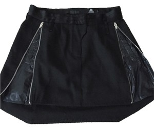 Alexander Wang Tuxedo Wool Chic Glam Statement Edgy Runway Office Nightout Nylon Skirt Black