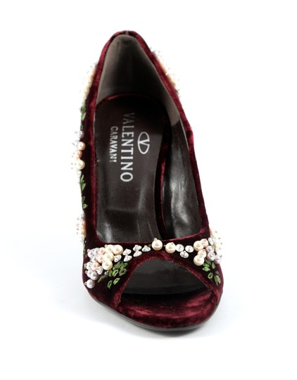 Valentino Burgundy Pumps