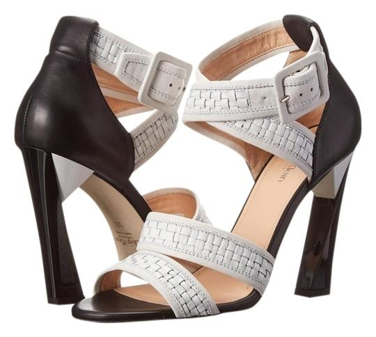 Preload https://item4.tradesy.com/images/calvin-klein-collection-white-and-black-vera-weavecalf-sandals-size-us-65-regular-m-b-3931258-0-0.jpg?width=440&height=440