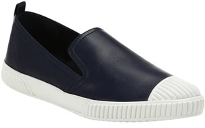 Prada Skater Sneakers Slip-on Leather Navy Athletic