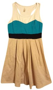 Estam short dress Colorblock Skater Sweetheart Blue Sleeveless on Tradesy