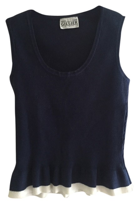Arnaud Thierry Giilier Top Blue with White Trim